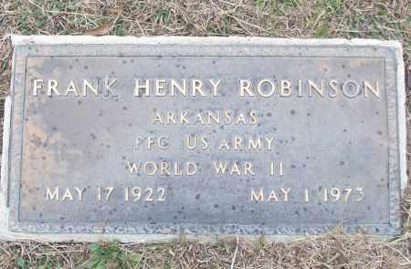 ROBINSON (VETERAN WWII), FRANK HENRY - White County, Arkansas | FRANK HENRY ROBINSON (VETERAN WWII) - Arkansas Gravestone Photos