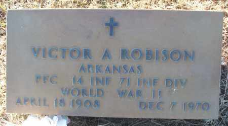 ROBISON (VETERAN WWII), VICTOR A - White County, Arkansas | VICTOR A ROBISON (VETERAN WWII) - Arkansas Gravestone Photos