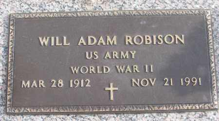 ROBISON (VETERAN WWII), WILL ADAM - White County, Arkansas | WILL ADAM ROBISON (VETERAN WWII) - Arkansas Gravestone Photos
