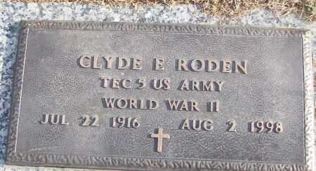 RODEN (VETERAN WWII), CLYDE E - White County, Arkansas | CLYDE E RODEN (VETERAN WWII) - Arkansas Gravestone Photos