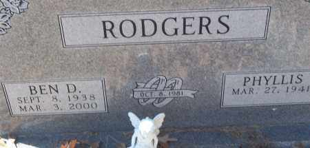 RODGERS, BEN D. - White County, Arkansas | BEN D. RODGERS - Arkansas Gravestone Photos