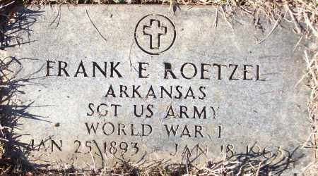 ROETZEL (VETERAN WWI), FRANK E - White County, Arkansas | FRANK E ROETZEL (VETERAN WWI) - Arkansas Gravestone Photos