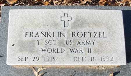 ROETZEL (VETERAN WWII), FRANKLIN - White County, Arkansas | FRANKLIN ROETZEL (VETERAN WWII) - Arkansas Gravestone Photos