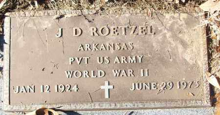 ROETZEL (VETERAN WWII), J D - White County, Arkansas | J D ROETZEL (VETERAN WWII) - Arkansas Gravestone Photos