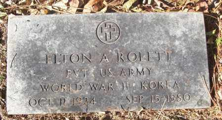 ROLETT (VETERAN 2 WARS), ELTON A - White County, Arkansas | ELTON A ROLETT (VETERAN 2 WARS) - Arkansas Gravestone Photos