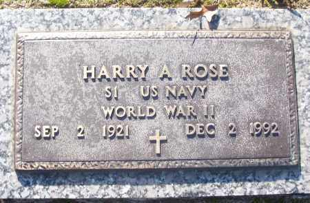 ROSE (VETERAN WWII), HARRY A - White County, Arkansas | HARRY A ROSE (VETERAN WWII) - Arkansas Gravestone Photos