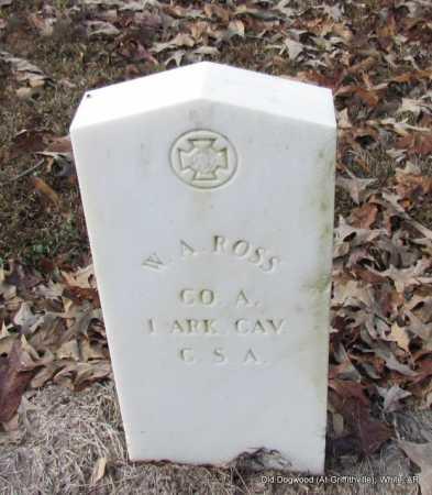 ROSS (VETERAN CSA), W A - White County, Arkansas | W A ROSS (VETERAN CSA) - Arkansas Gravestone Photos