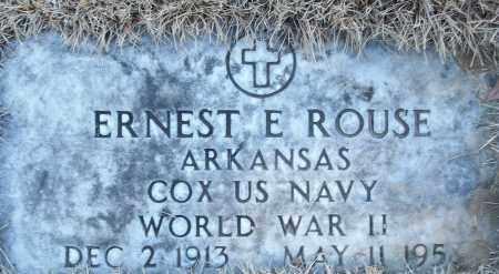 ROUSE (VETERAN WWII), ERNEST E - White County, Arkansas | ERNEST E ROUSE (VETERAN WWII) - Arkansas Gravestone Photos