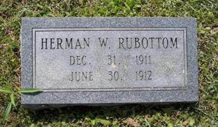 RUBOTTOM, HERMAN W - White County, Arkansas | HERMAN W RUBOTTOM - Arkansas Gravestone Photos