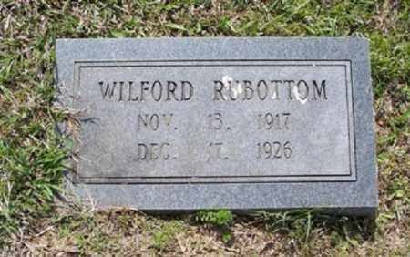 RUBOTTOM, WILFORD - White County, Arkansas   WILFORD RUBOTTOM - Arkansas Gravestone Photos