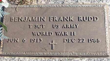 RUDD (VETERAN WWII), BENJAMIN FRANK - White County, Arkansas | BENJAMIN FRANK RUDD (VETERAN WWII) - Arkansas Gravestone Photos