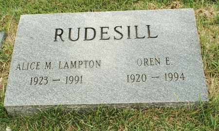 LAMPTON RUDESILL, ALICE M - White County, Arkansas | ALICE M LAMPTON RUDESILL - Arkansas Gravestone Photos