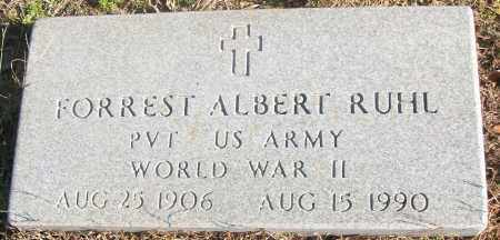 RUHL  (VETERAN WWII), FORREST ALBERT - White County, Arkansas | FORREST ALBERT RUHL  (VETERAN WWII) - Arkansas Gravestone Photos