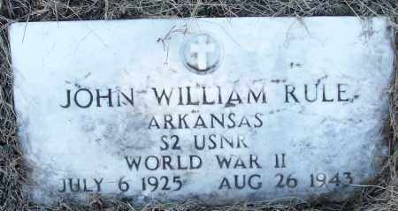RULE (VETERAN WWII), JOHN WILLIAM - White County, Arkansas | JOHN WILLIAM RULE (VETERAN WWII) - Arkansas Gravestone Photos