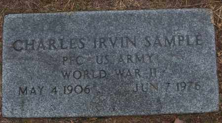 SAMPLE (VETERAN WWII), CHARLES IRVIN - White County, Arkansas | CHARLES IRVIN SAMPLE (VETERAN WWII) - Arkansas Gravestone Photos
