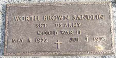 SANDLIN (VETERAN WWII), WORTH BROWN - White County, Arkansas | WORTH BROWN SANDLIN (VETERAN WWII) - Arkansas Gravestone Photos