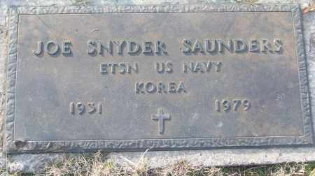 SAUNDERS (VETERAN KOR), JOE SNYDER - White County, Arkansas | JOE SNYDER SAUNDERS (VETERAN KOR) - Arkansas Gravestone Photos