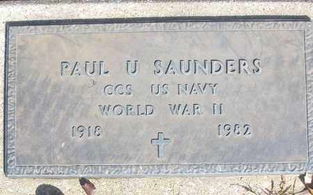 SAUNDERS (VETERAN WWII), PAUL U - White County, Arkansas | PAUL U SAUNDERS (VETERAN WWII) - Arkansas Gravestone Photos