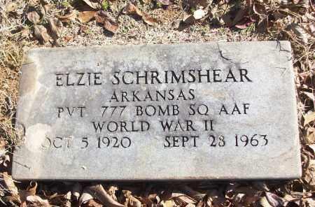 SCHRIMSHEAR (VETERAN WWII), ELZIE - White County, Arkansas | ELZIE SCHRIMSHEAR (VETERAN WWII) - Arkansas Gravestone Photos