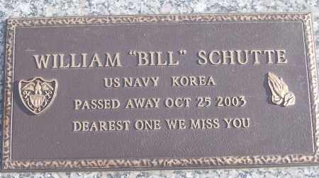 "SCHUTTE (VETERAN KOR), WILLIAM ""BILL"" - White County, Arkansas 