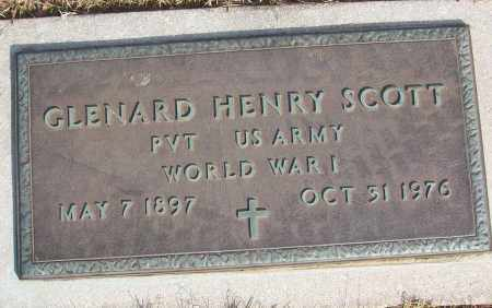 SCOTT (VETERAN WWI), GLENARD HENRY - White County, Arkansas | GLENARD HENRY SCOTT (VETERAN WWI) - Arkansas Gravestone Photos
