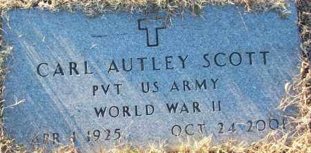 SCOTT (VETERAN WWII), CARL AUTLEY - White County, Arkansas | CARL AUTLEY SCOTT (VETERAN WWII) - Arkansas Gravestone Photos
