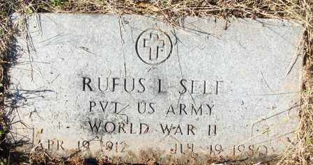 SELF (VETERAN WWII), RUFUS L - White County, Arkansas | RUFUS L SELF (VETERAN WWII) - Arkansas Gravestone Photos