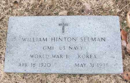 SELMAN (VETERAN 2 WARS), WILLIAM HINTON HOLD - White County, Arkansas | WILLIAM HINTON HOLD SELMAN (VETERAN 2 WARS) - Arkansas Gravestone Photos