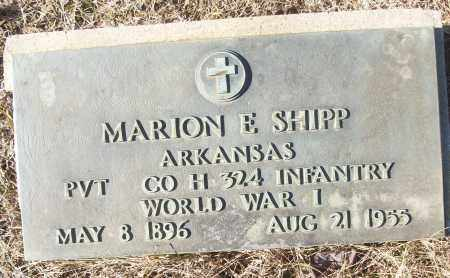 SHIPP (VETERAN WWI), MARION E - White County, Arkansas | MARION E SHIPP (VETERAN WWI) - Arkansas Gravestone Photos