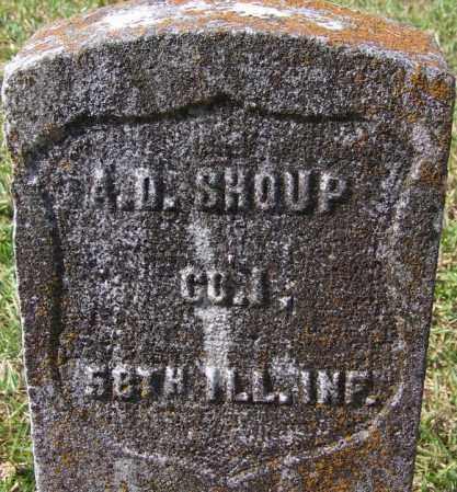 SHOUP (VETERAN UNION), A D - White County, Arkansas | A D SHOUP (VETERAN UNION) - Arkansas Gravestone Photos