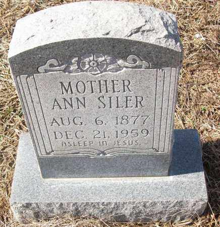 SILER, ANN - White County, Arkansas | ANN SILER - Arkansas Gravestone Photos