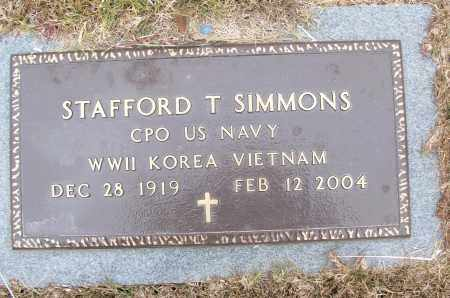 SIMMONS (VETERAN 3 WARS), STAFFORD T - White County, Arkansas | STAFFORD T SIMMONS (VETERAN 3 WARS) - Arkansas Gravestone Photos