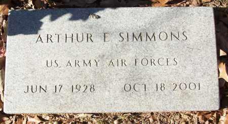 SIMMONS (VETERAN), ARTHUR E - White County, Arkansas | ARTHUR E SIMMONS (VETERAN) - Arkansas Gravestone Photos