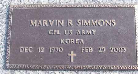 SIMMONS (VETERAN KOR), MARVIN R - White County, Arkansas | MARVIN R SIMMONS (VETERAN KOR) - Arkansas Gravestone Photos