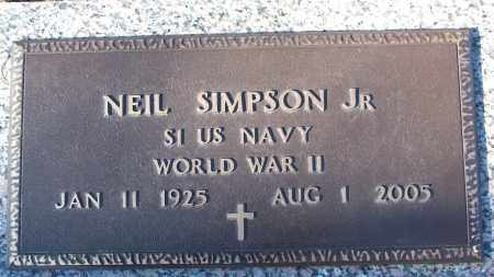SIMPSON, JR (VETERAN WWII), NEIL - White County, Arkansas | NEIL SIMPSON, JR (VETERAN WWII) - Arkansas Gravestone Photos