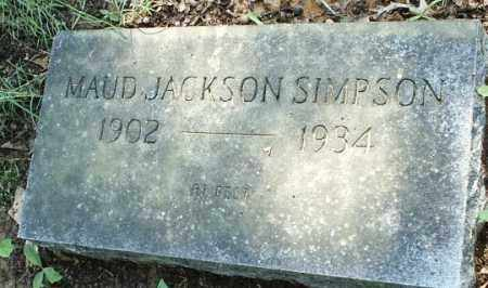 JACKSON SIMPSON, MAUD - White County, Arkansas | MAUD JACKSON SIMPSON - Arkansas Gravestone Photos
