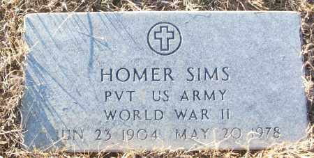 SIMS (VETERAN WWII), HOMER - White County, Arkansas   HOMER SIMS (VETERAN WWII) - Arkansas Gravestone Photos