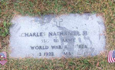 SIPES  (VETERAN 2 WARS), CHARLES NATHANIEL - White County, Arkansas | CHARLES NATHANIEL SIPES  (VETERAN 2 WARS) - Arkansas Gravestone Photos