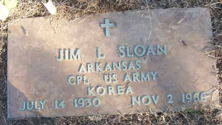 SLOAN (VETERAN KOR), JIM L - White County, Arkansas | JIM L SLOAN (VETERAN KOR) - Arkansas Gravestone Photos