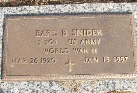 SNIDER (VETERAN WWII), EARL B - White County, Arkansas | EARL B SNIDER (VETERAN WWII) - Arkansas Gravestone Photos