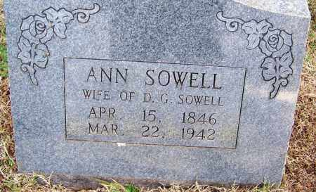 SOWELL, ANN - White County, Arkansas | ANN SOWELL - Arkansas Gravestone Photos