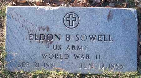 SOWELL (VETERAN WWII), ELDON B - White County, Arkansas | ELDON B SOWELL (VETERAN WWII) - Arkansas Gravestone Photos