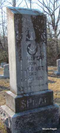 SPEAR, A J - White County, Arkansas | A J SPEAR - Arkansas Gravestone Photos