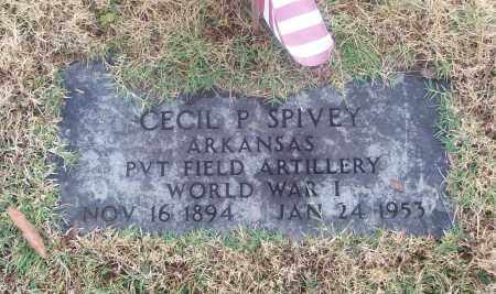 SPIVEY  (VETERAN WWI), CECIL P - White County, Arkansas | CECIL P SPIVEY  (VETERAN WWI) - Arkansas Gravestone Photos