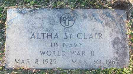 ST CLAIR (VETERAN WWII), ALTHA - White County, Arkansas | ALTHA ST CLAIR (VETERAN WWII) - Arkansas Gravestone Photos
