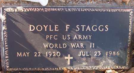 STAGGS (VETERAN WWII), DOYLE F - White County, Arkansas | DOYLE F STAGGS (VETERAN WWII) - Arkansas Gravestone Photos