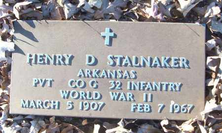STALNAKER (VETERAN WWII), HENRY D - White County, Arkansas | HENRY D STALNAKER (VETERAN WWII) - Arkansas Gravestone Photos