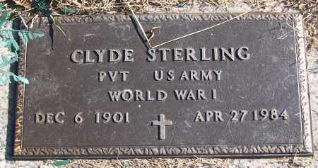 STERLING (VETERAN WWI), CLYDE - White County, Arkansas | CLYDE STERLING (VETERAN WWI) - Arkansas Gravestone Photos