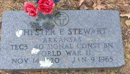 STEWART (VETERAN WWII), CHESTER E - White County, Arkansas | CHESTER E STEWART (VETERAN WWII) - Arkansas Gravestone Photos