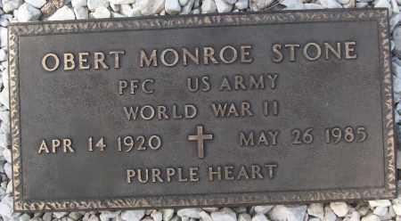 STONE (VETERAN WWII), OBERT MONROE - White County, Arkansas | OBERT MONROE STONE (VETERAN WWII) - Arkansas Gravestone Photos